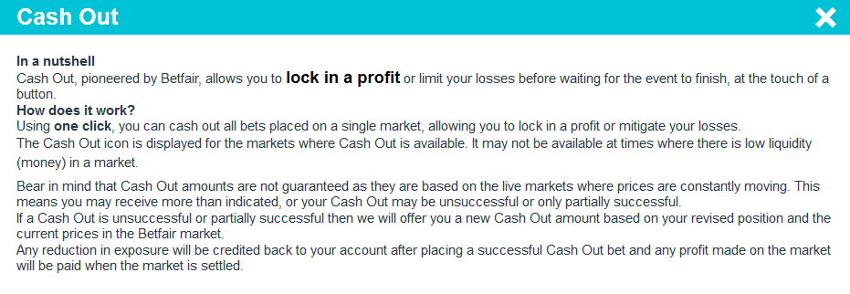Orbit Exchange Cash Out